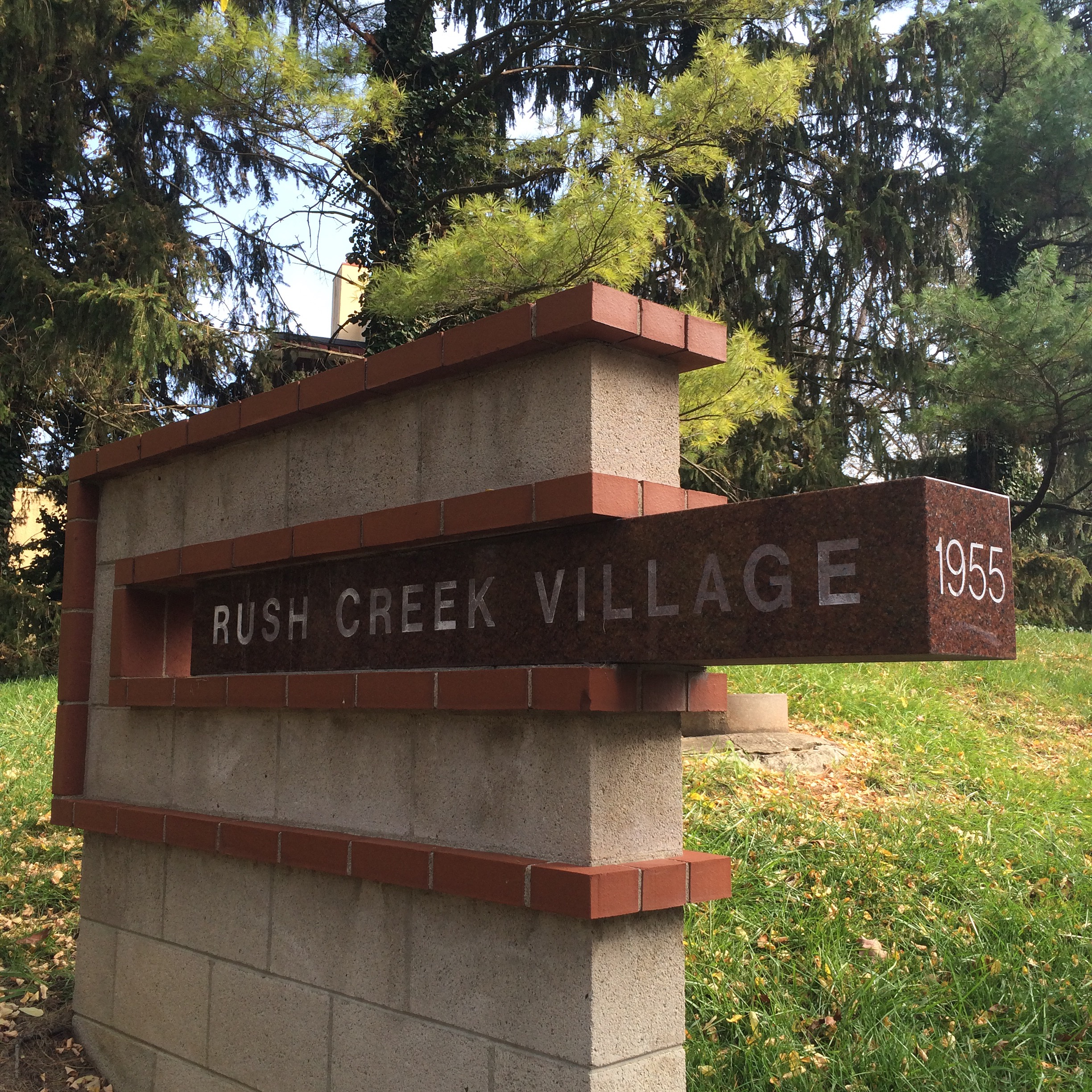 Rush Creek Village sign
